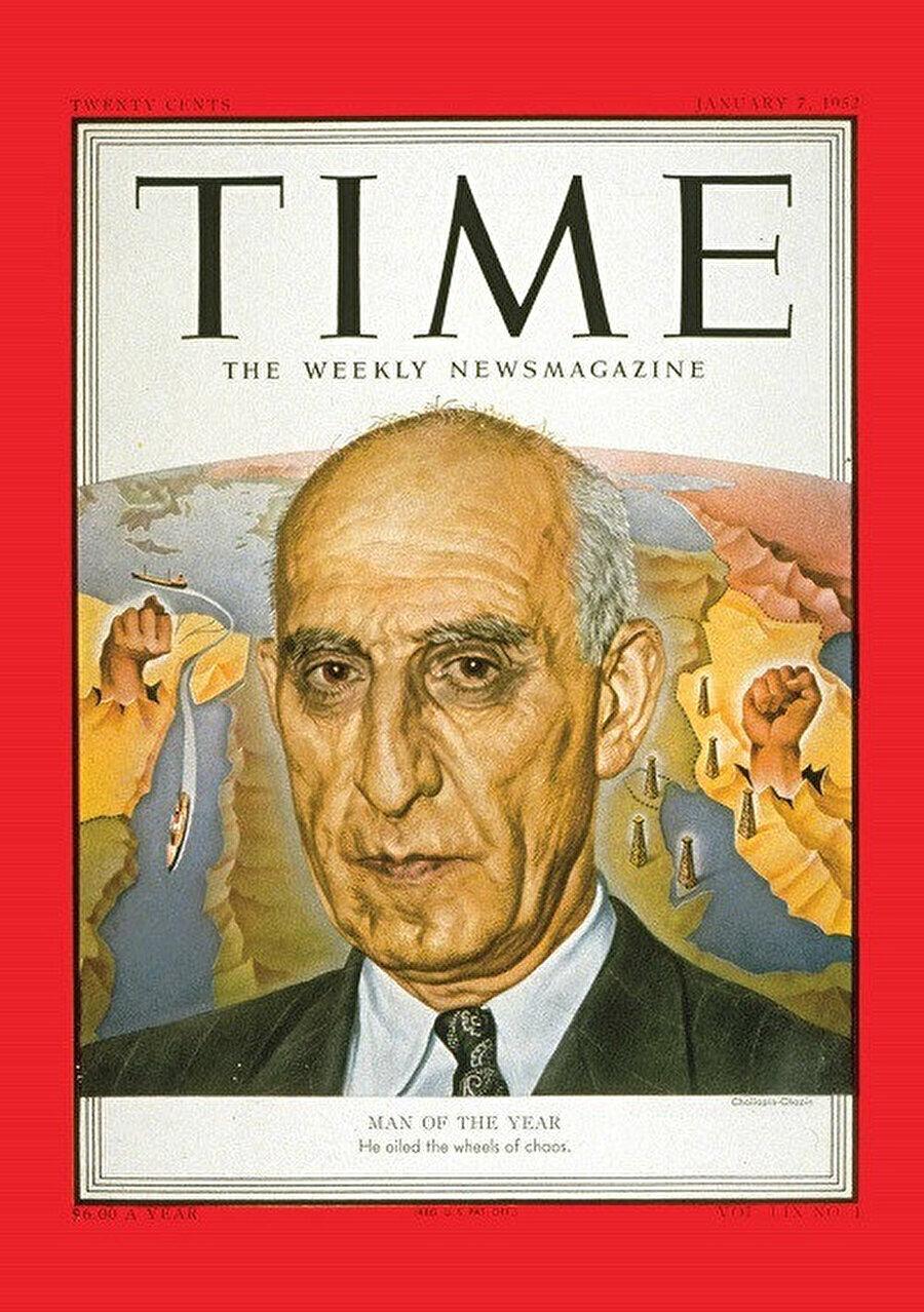 Yılın adamı olarak gösterilen Musaddık, Time Dergisi kapağında.