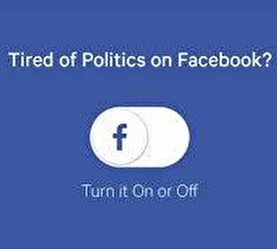 Facebook, kullanıcılar istediği takdirde siyasi reklamları engelliyor. Yani böyle bir opsiyon sunmaya başlıyor.