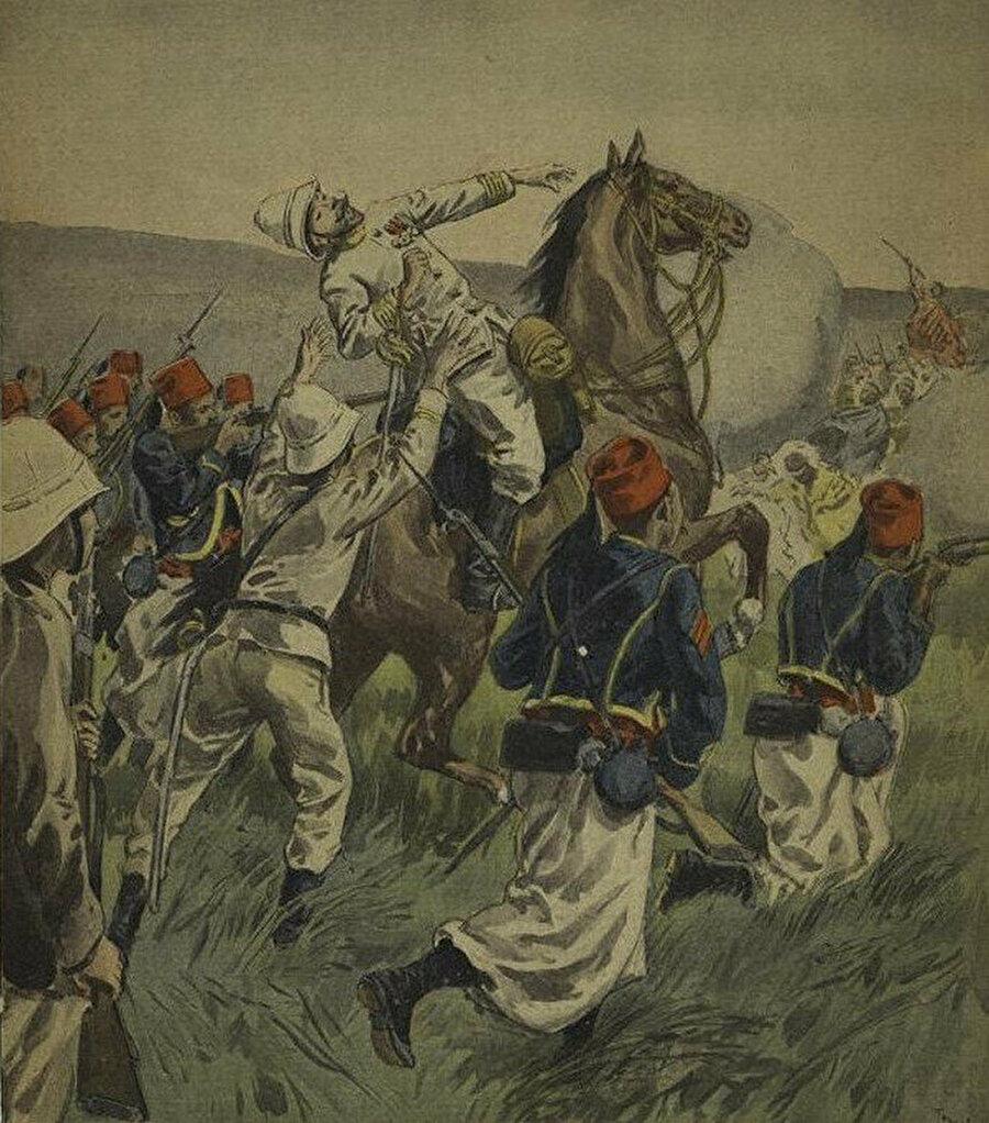 Fransız Komutan Lamy'nin öldürülmesi.