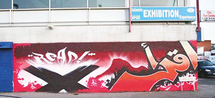 Batılı sokak sanatını, klasik üsluptaki İslam desenleriyle birleştiren Muhammed Ali, yalnızca boyamak için izin aldığı yerlerde sanatını icra ediyor.