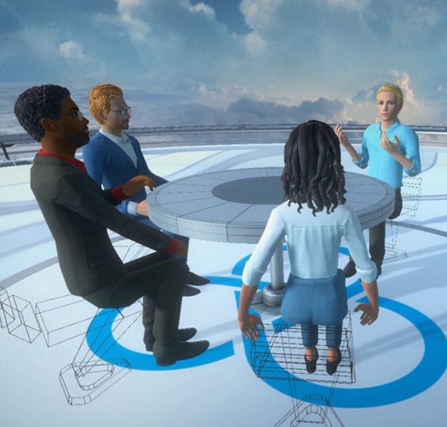 Böylece sanal gerçeklik toplantılarıyla 30 kişi bir araya gelebiliyor.