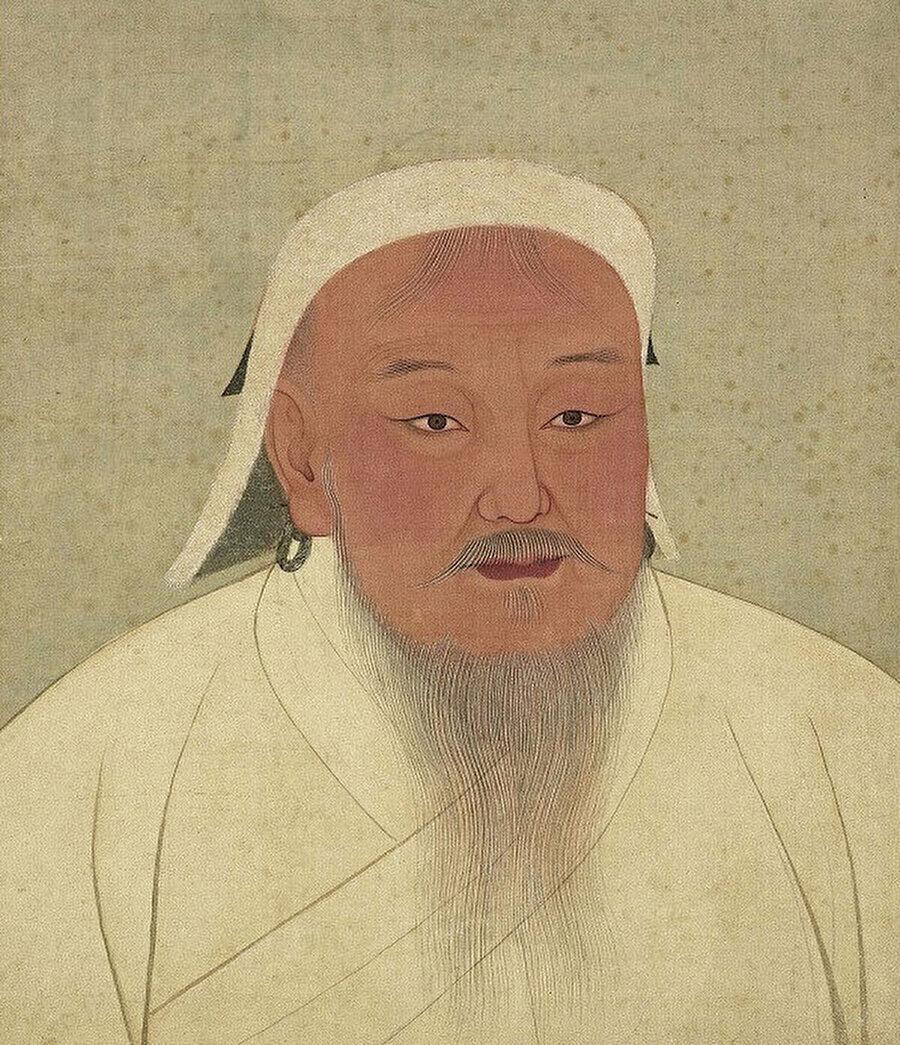Cengiz Han'ın en yaygın tasviri.