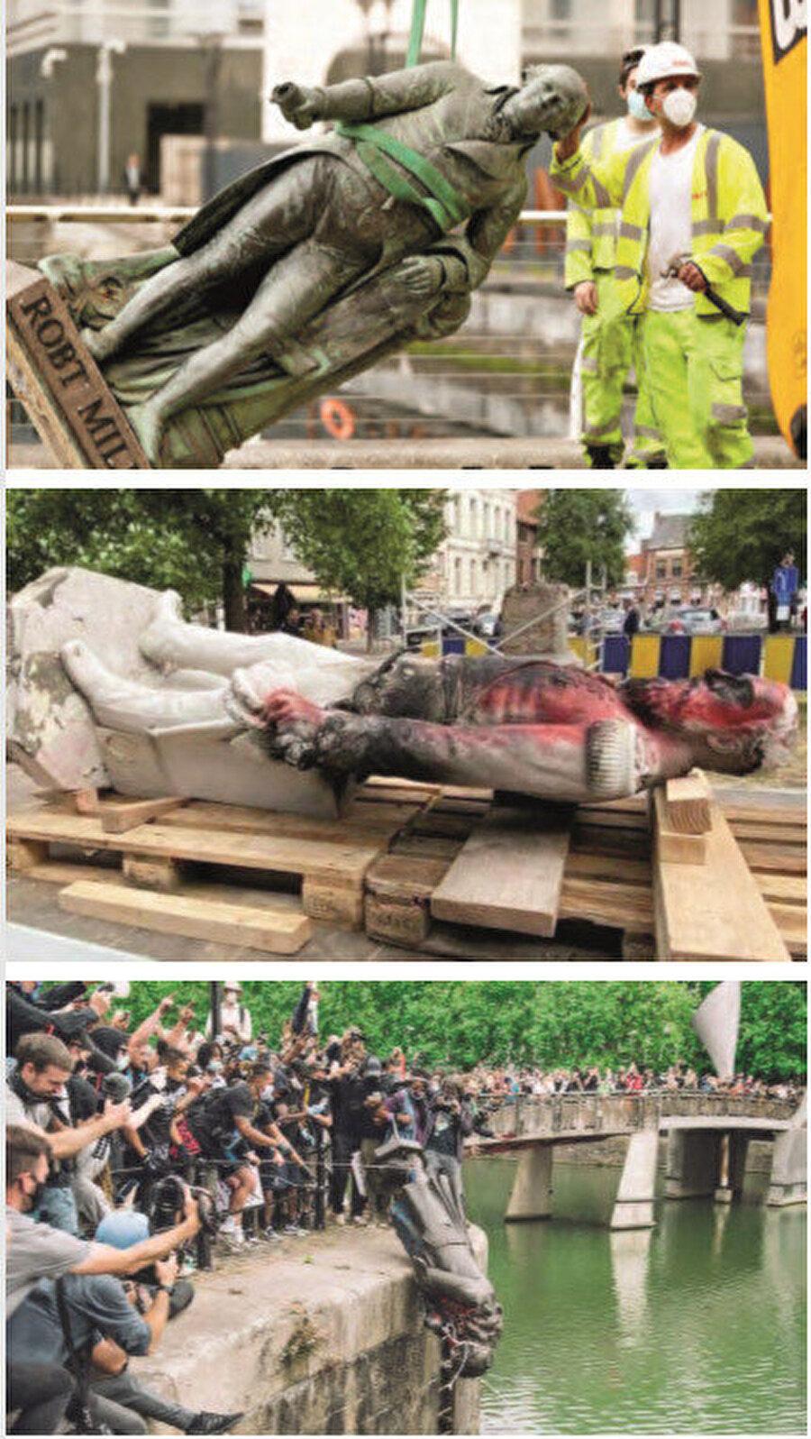 Tarihi heykeller pek çok ülkede George Floyd protestolarından nasibini aldı.