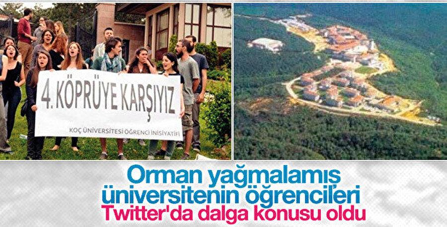 28 Şubat sürecinde Sarıyer Ormanı'nın ortasına yaptıkları Koç Üniversitesi için katlettikleri 58 bin ağacı belli ki hiç bilmiyor olmalı.