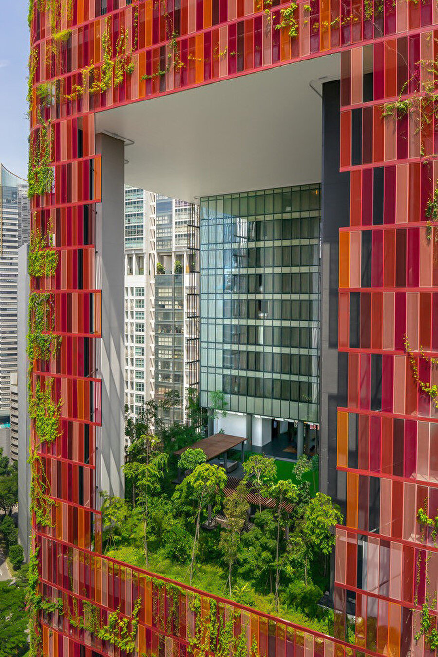 Peyzaj, mimari bir yüzey işlemi olarak da yaygın olarak kullanılıyor.