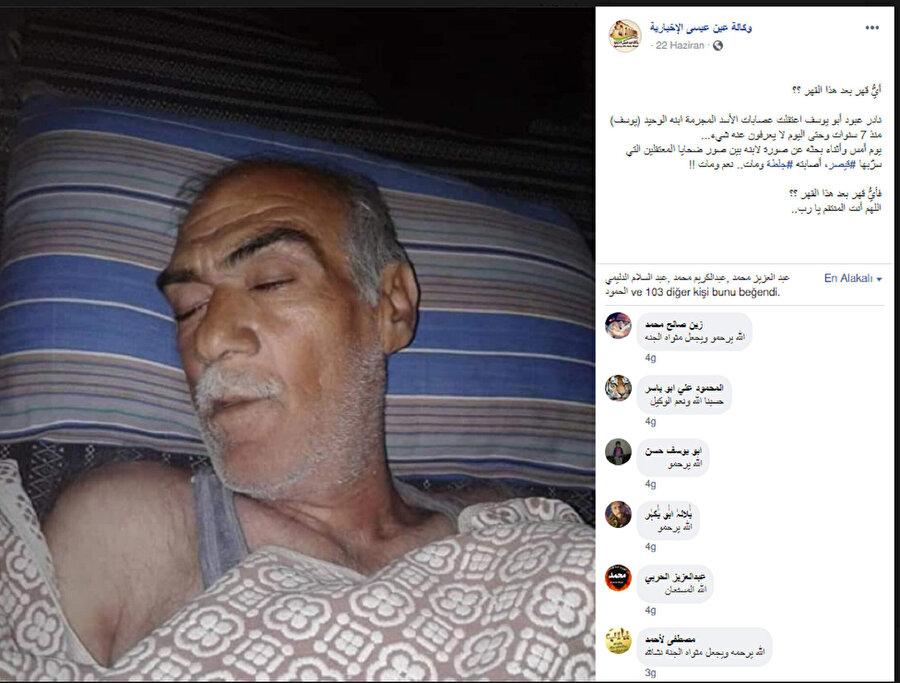 Şehid fotoğrafları içinde oğlu Yusuf'u görünce kalp krizi geçirip vefat eden Nadir Abbud