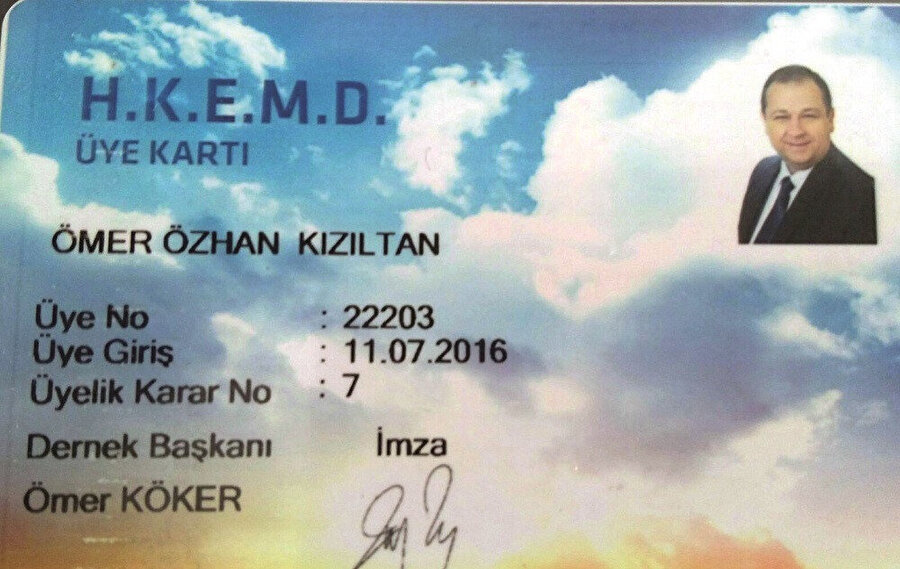 Türkiye Hür Ve Kabul Edilmiş Masonlar Büyük Locası Derneği üye kartı