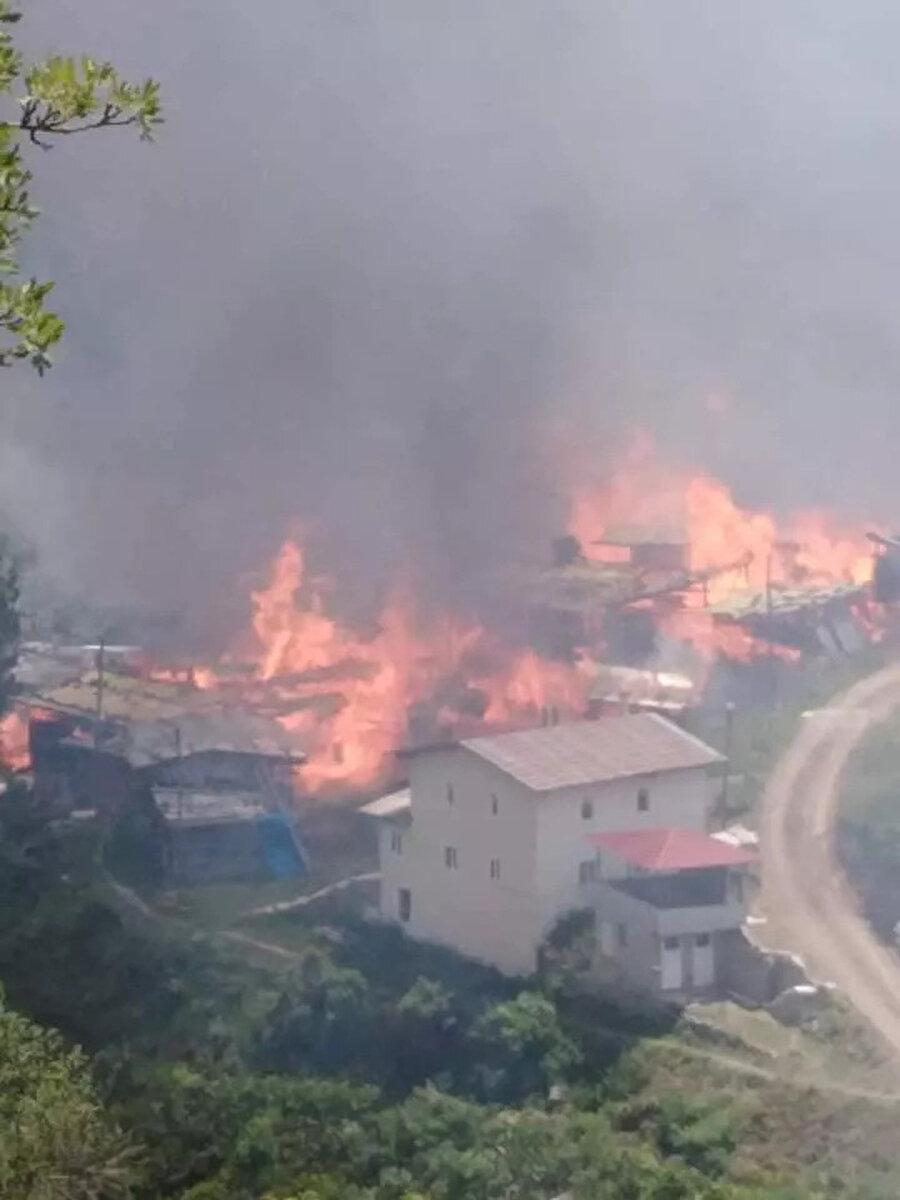 Yangın bölgesinden ilk fotoğraflar