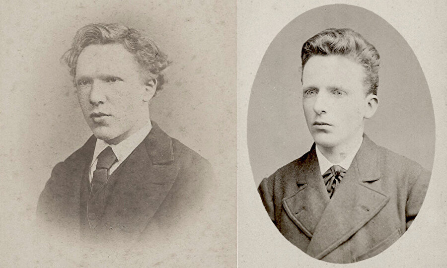 Vincent Van Gogh, 1873 (solda). Theo Van Gogh, 1878 (sağda).