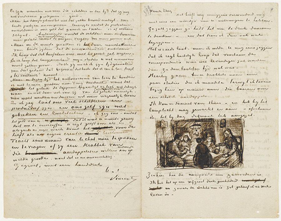 Vincent Van Gogh'un, kardeşi Theo Van Gogh'a yazdığı mektuplar. Mektupların 650'den fazlası korunmuştur.