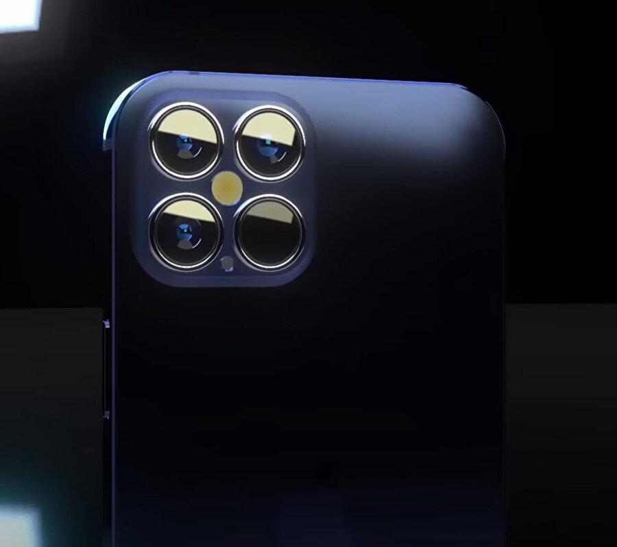 Yeni iPhone'un konsept vieosuna göre arkadaki kamera dizilimi ise bu şekilde.