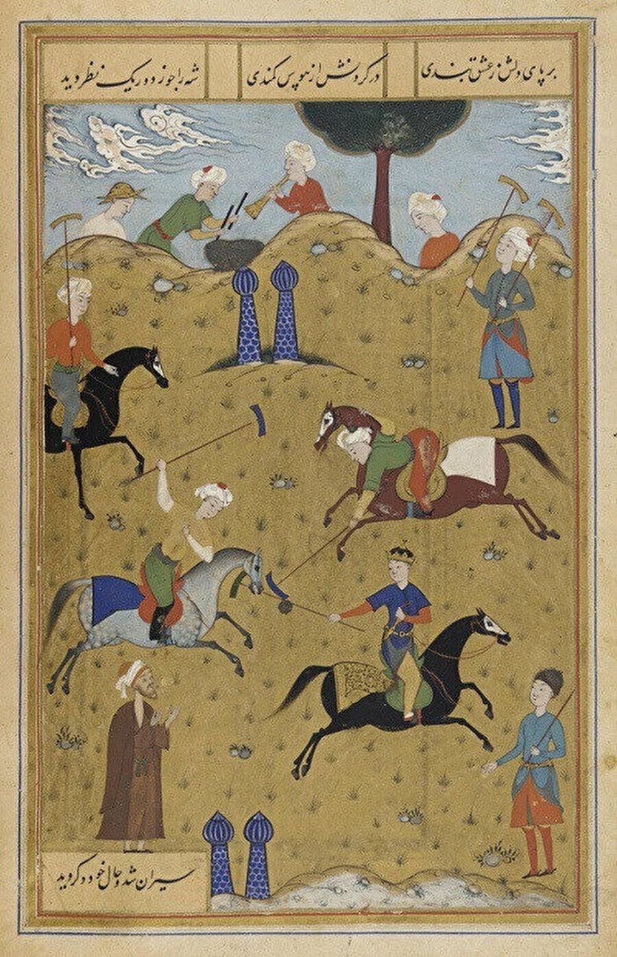 Eski dönemde çevganı konu alan sayısız minyatür çizilmiştir.