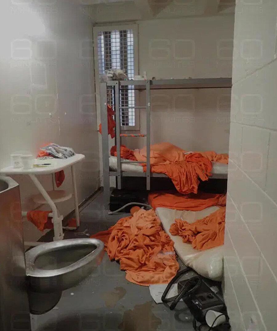 Manhattan'ın Büyükşehir Gözaltı Merkezinde Jeffrey Epstein'ın ölü bulunduğu hücrenin içi