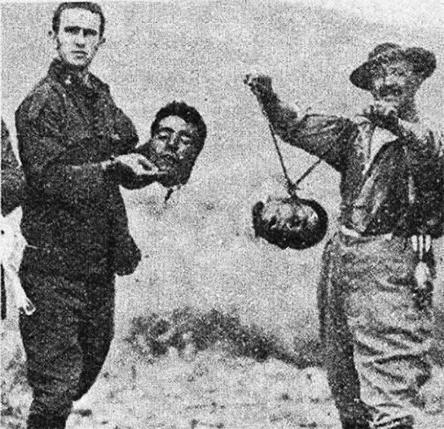 1950'lerde kafaları kesilen Cezayirli direnişçiler