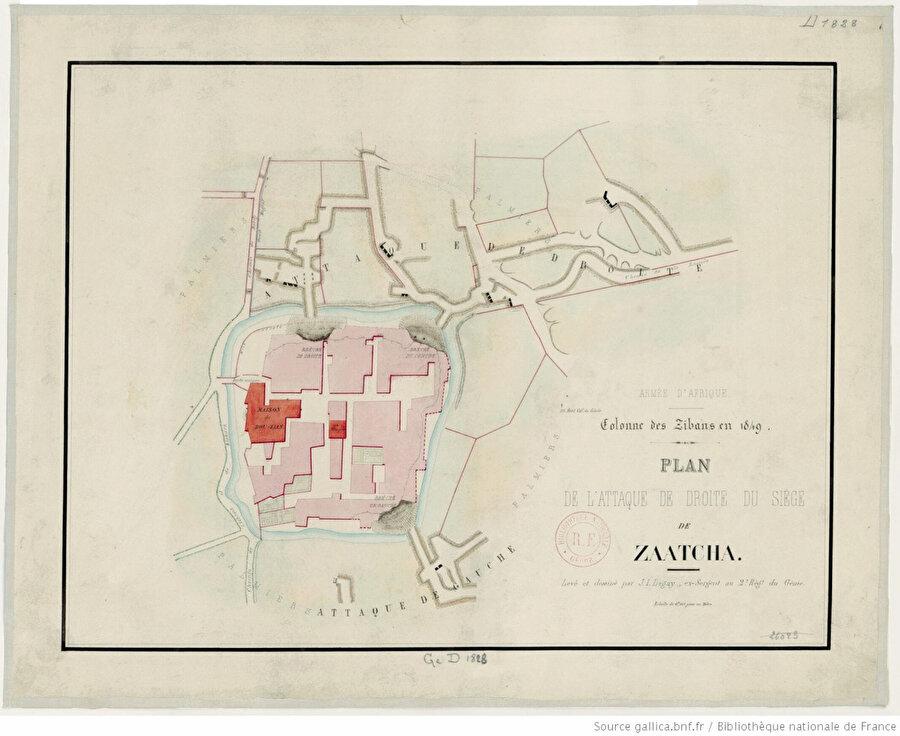 Fransızların 1849 Zeatişe Kuşatma Planı