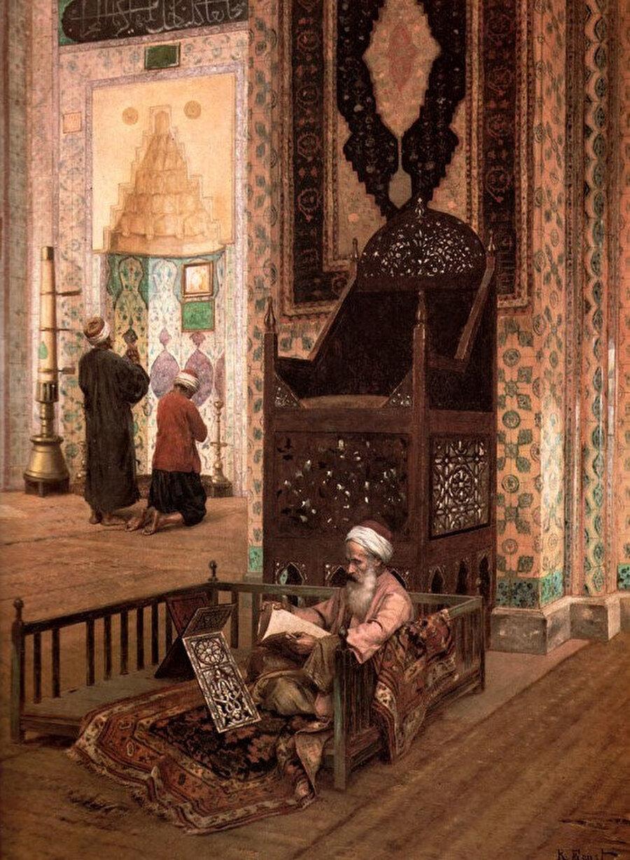 Rudolf Ernst, Rüstem Paşa Camii içi.