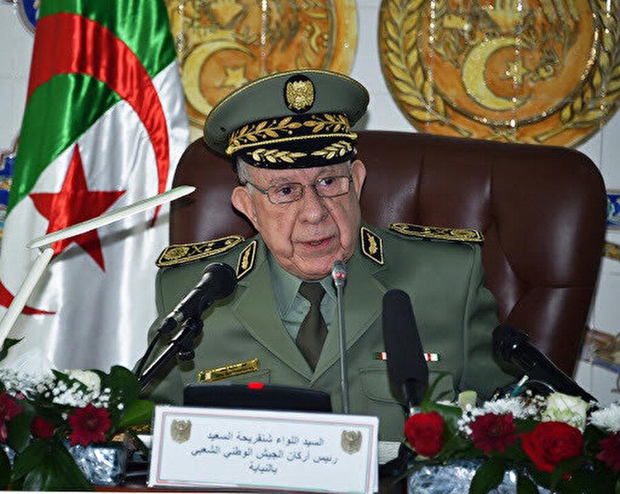 Cezayir Genelkurmay Başkanı Korgeneral Said Şangariha.