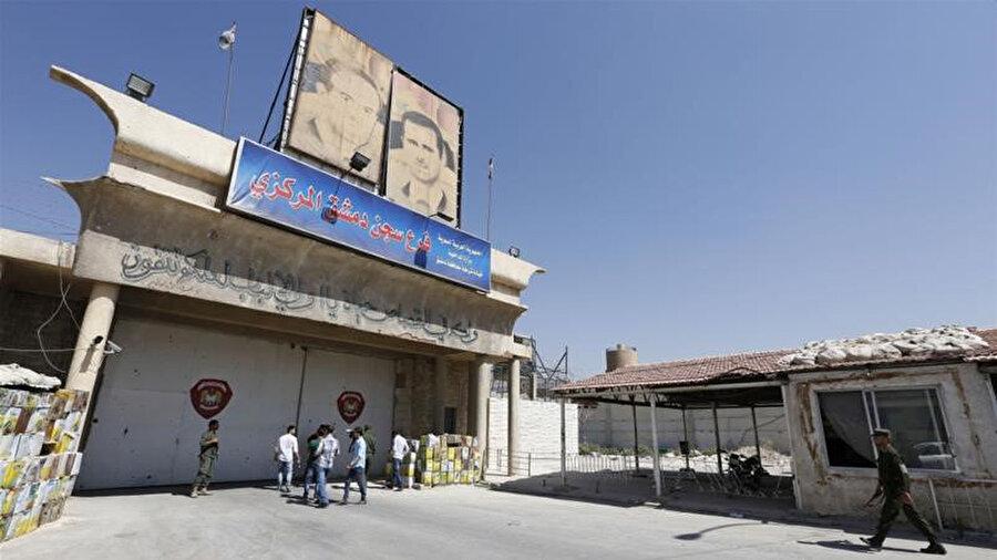 Şam'da bir rejim hapishanesi.