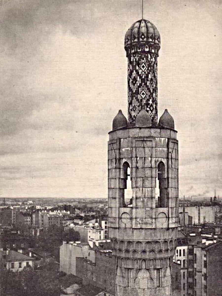 Petersburg Camii minaresi 1920-1930'lu yıllar. Fotograf: V.V.Peresnyakov