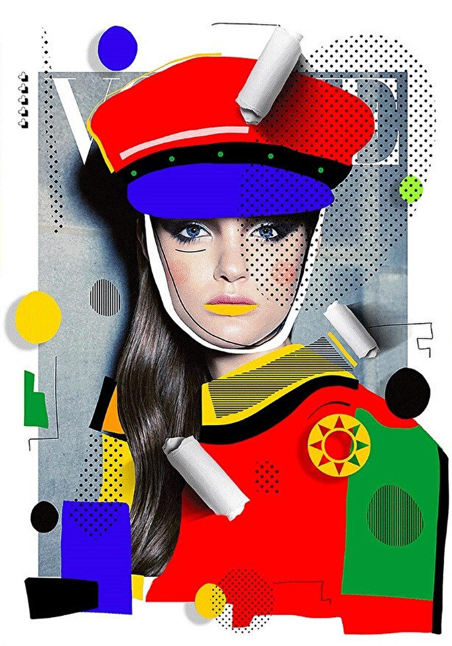 Fotoğrafı Kai Z Feng tarafından çekilen Vogue Avusturalya Kasım 2011 kapağı. Kapak modeli Katie Fogarty.