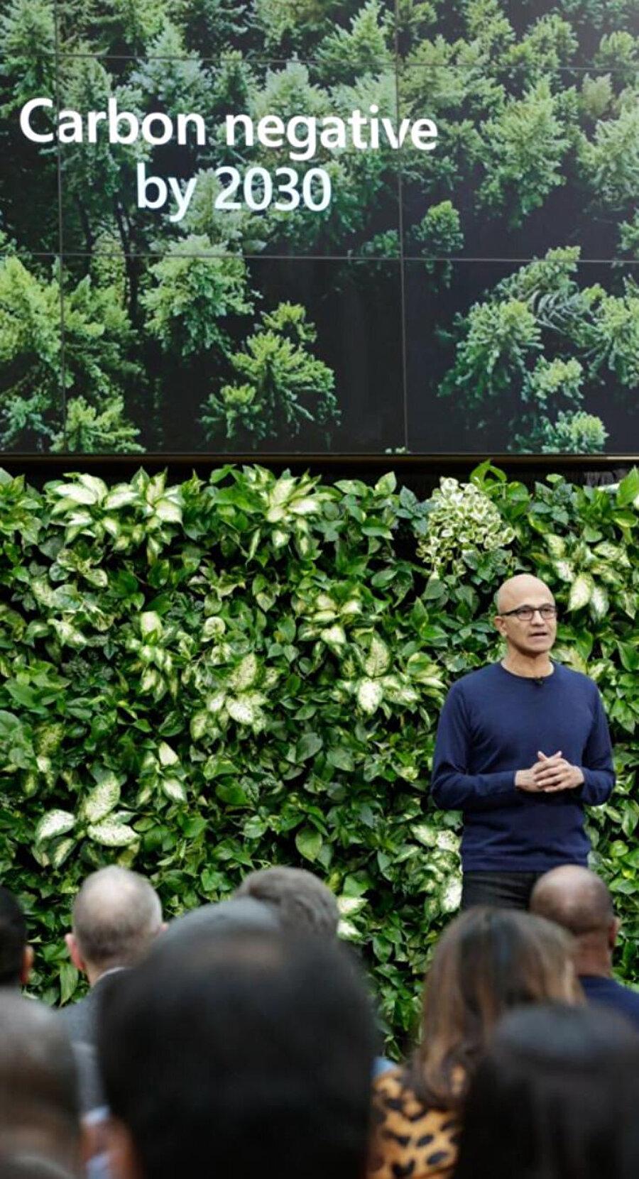 Microsoft, 2030'a kadar 'karbon negatif' olmayı hedefliyor.