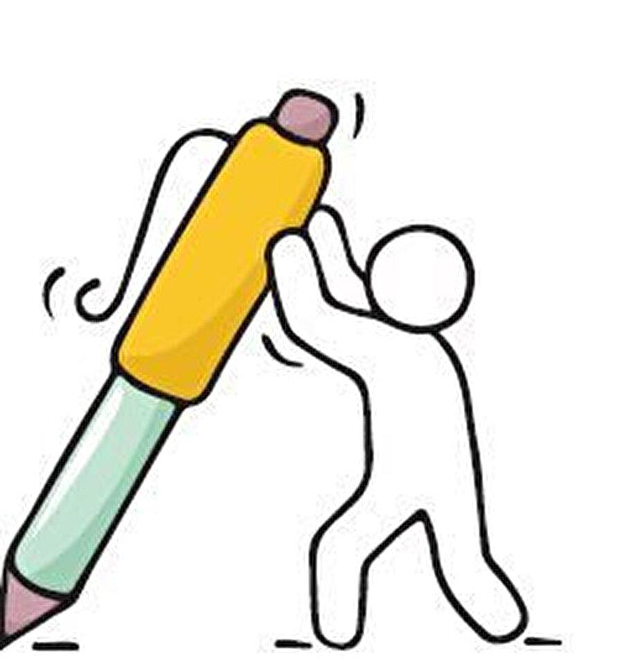 Masamda kalemliğimde kullan-at tükenmez kalemlerden birini dahi tutmam. Çünkü kendimden bulmam, çok para verilmesine şaşarım