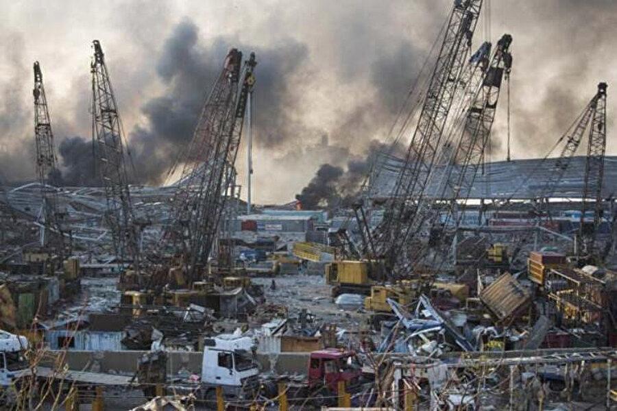 Beyrut'taki patlamadan sonra ilk görüntüler