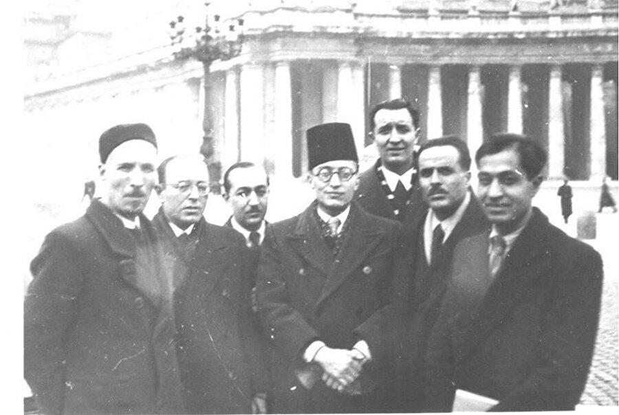 Habib Burgiba (Sağdan ikinci) ve arkadaşları Roma'da.