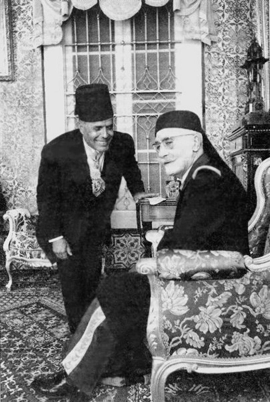 Muhammed el Amin ve Habib Burgiba bir arada.