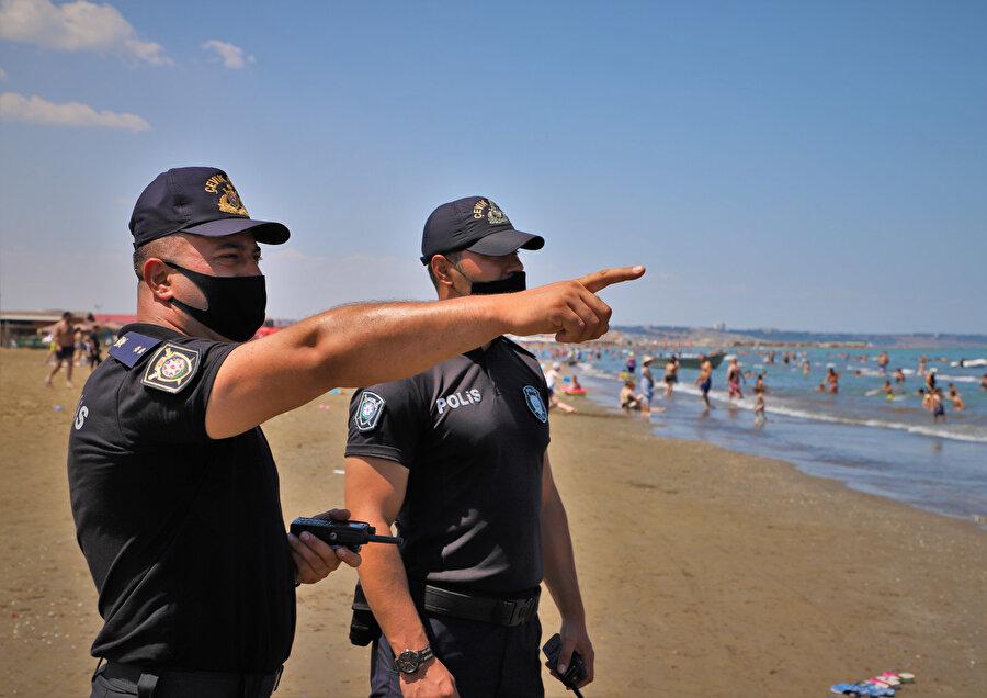 Sahil bölgelerindeki denetimler devam ediyor.