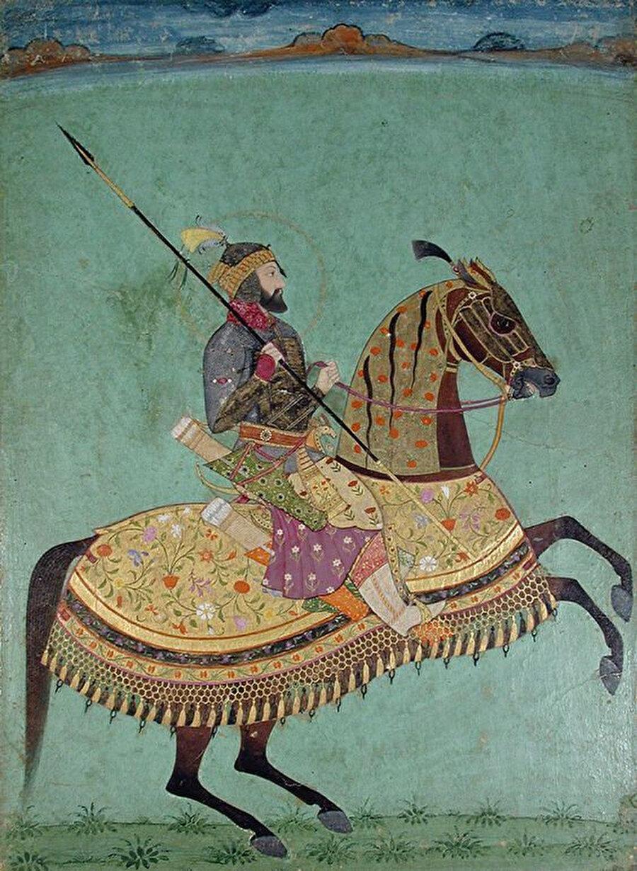 Şah Cihan'ın oğlu Babürlü Sultanı Sultan Evrengzib.