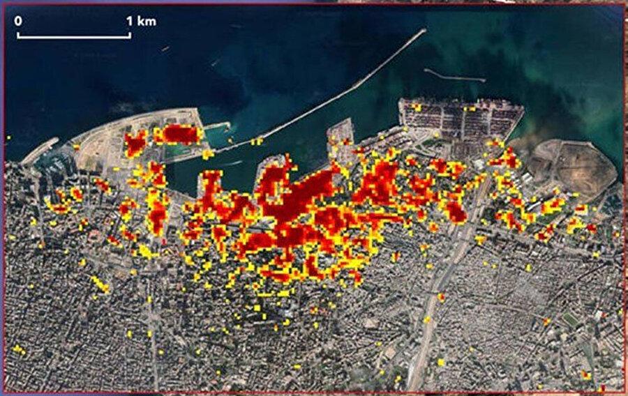 Beyrut'taki patlamanın uydu görüntüsü