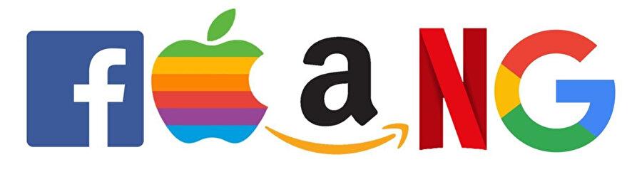 Finans alanında 'FAANG', önde gelen beş Amerikan teknoloji şirketinin hisselerini ifade eden bir kısaltmadır: Facebook (FB), Amazon (AMZN), Apple (AAPL), Netflix (NFLX); ve Google (GOOG). (Wikipedia)