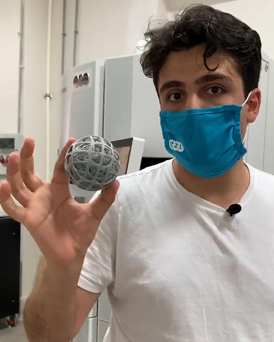 3D yazıcı ile üretilen ürün