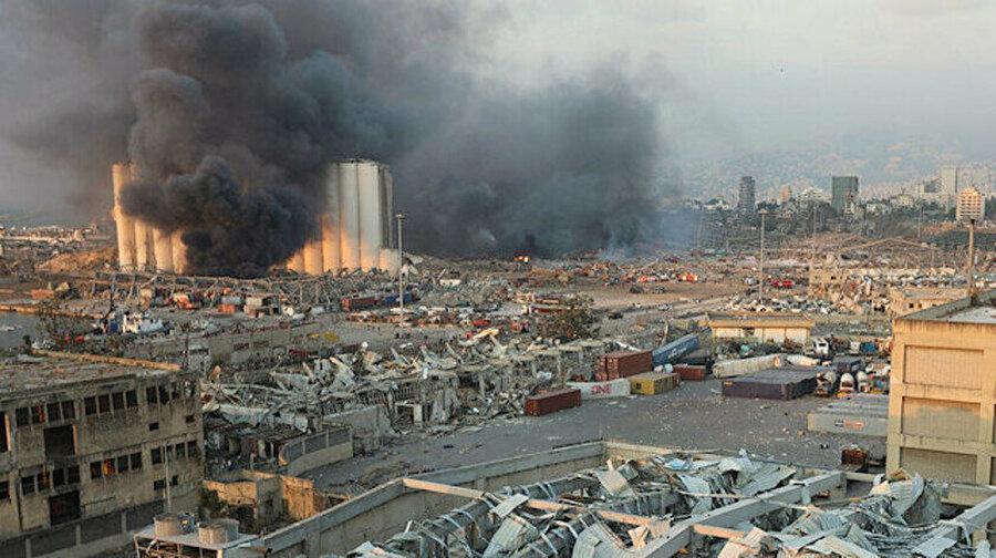 Beyrut'taki patlama.