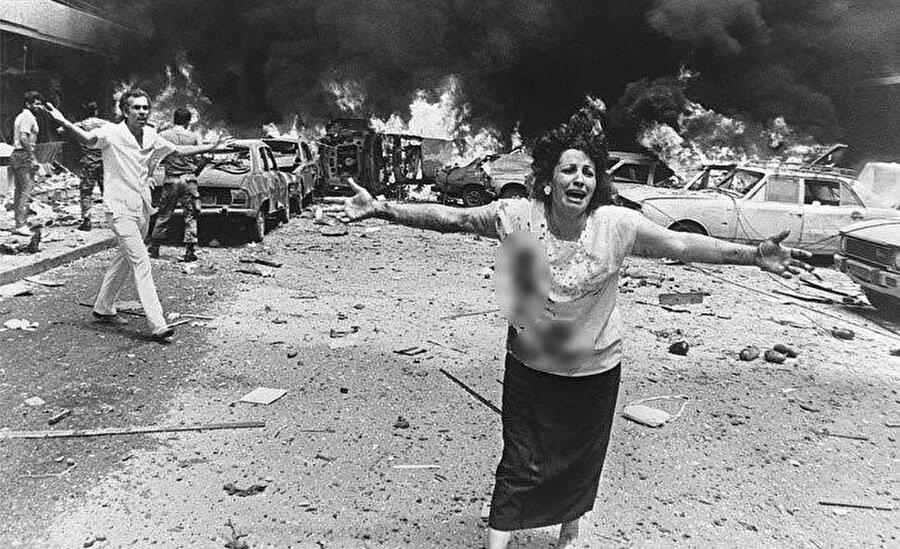 Lübnan iç savaşından bir kare