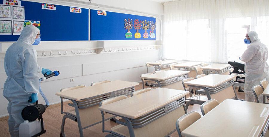 Sınıflar çarşamba ve pazar günleri temizlenecek