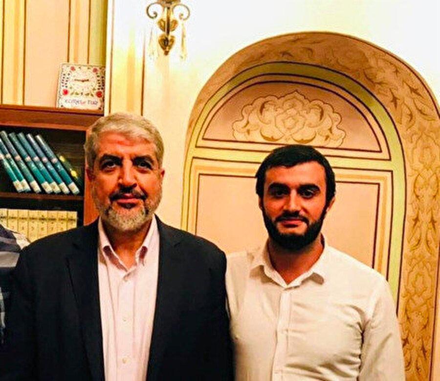 Hamas'ın Siyasi Büro Şefi Halid Meşal ve Mehmet Özek.