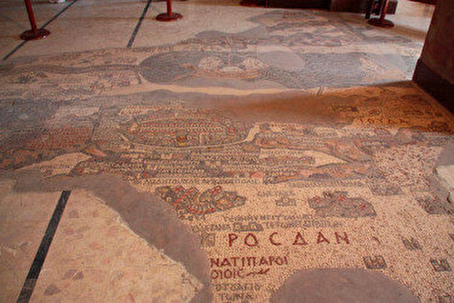 Medeba şehri mozaikleri.