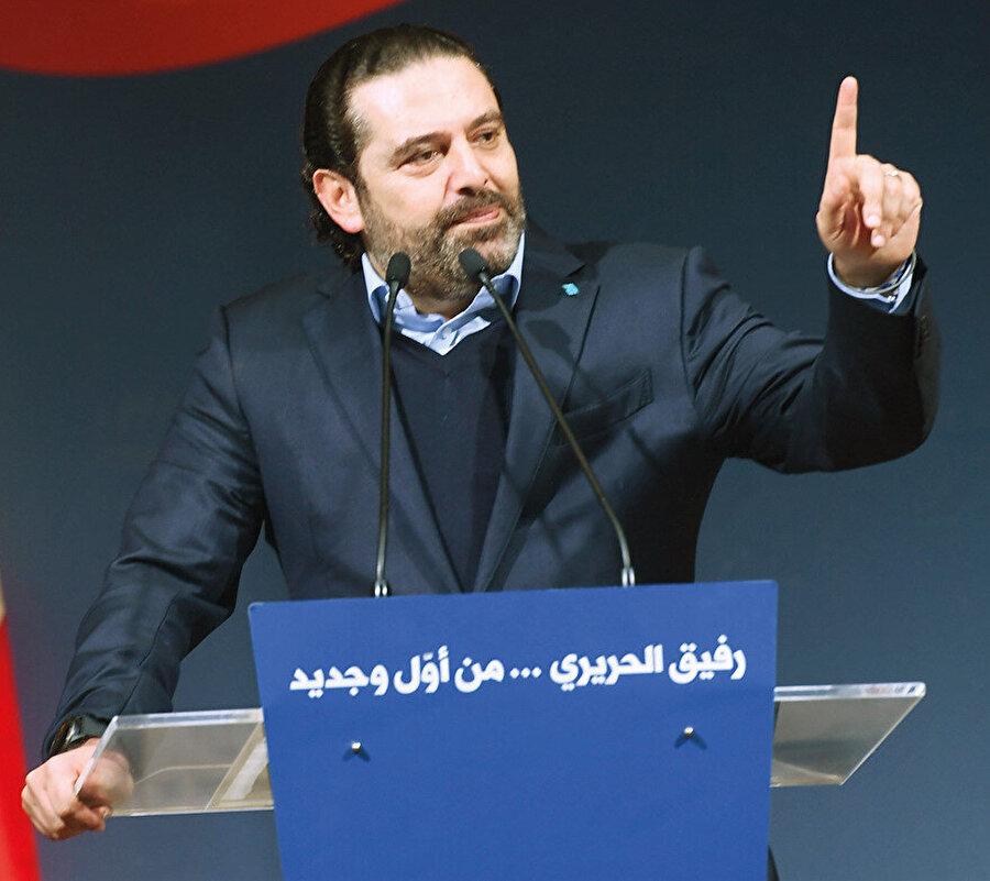 Saad Hariri babası Refik Hariri'nin ölüm yıldönümünde konuşuyor.