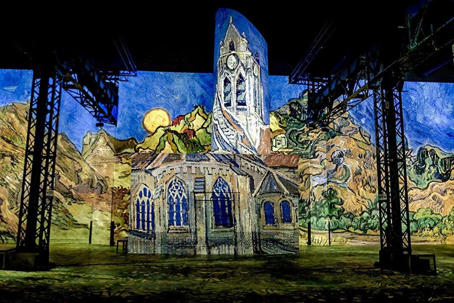 Auvers'daki Kilise'nin üç boyutlu bir yapıya yansıtıldığı eser, Van Gogh'un Hollanda'ya olan nostaljisinin tablosu.