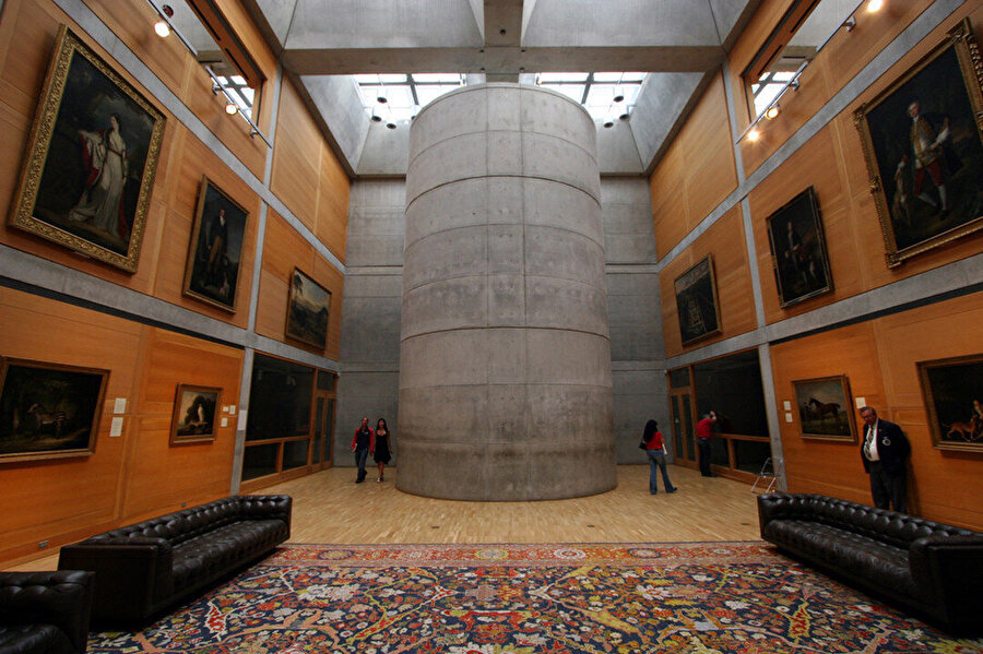 Yale British Art Centre, iç mekan.