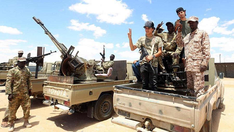 Libya Ulusal Mutabakat hükümetine bağlı güçler.