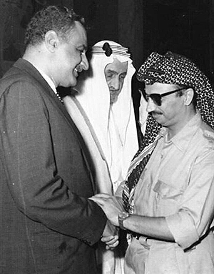 Cemal Abdünnasır, Suudi Arabistan Kralı Faysal ve Yaser Arafat