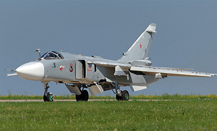 Rusya'nın Suhoy Su-24 bombardıman uçağı.