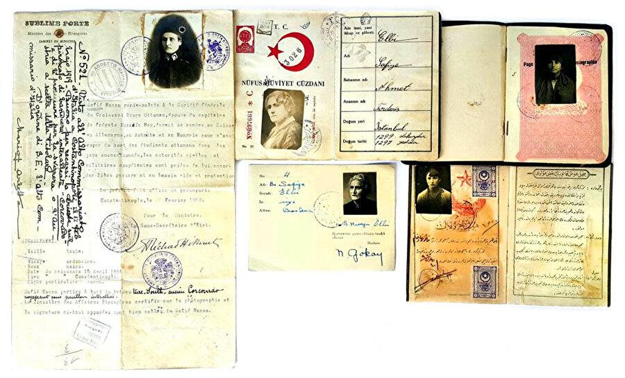 Hüseyin Safiye Hanım'ın kişisel belgeleri