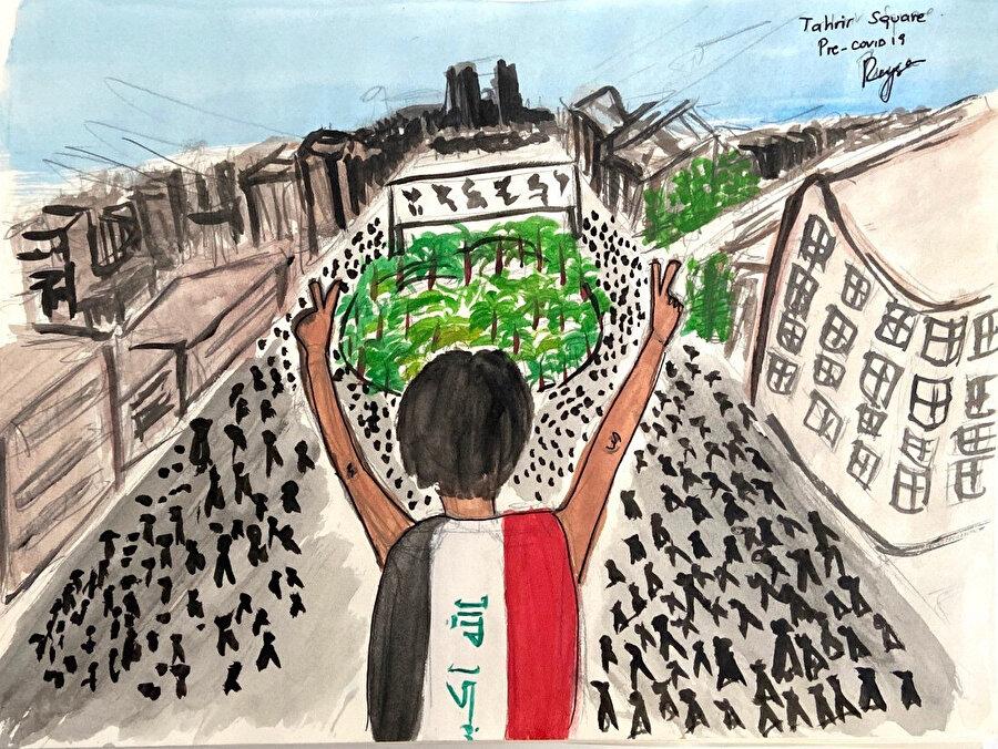 Pandemi ve Kent: Bağdat, görsel 2. (Covid'den önce Tahrir Meydanı.)