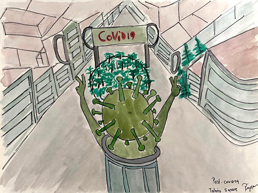 Pandemi ve Kent: Bağdat, görsel 3. (Covid'den sonra Tahrir Meydanı.)