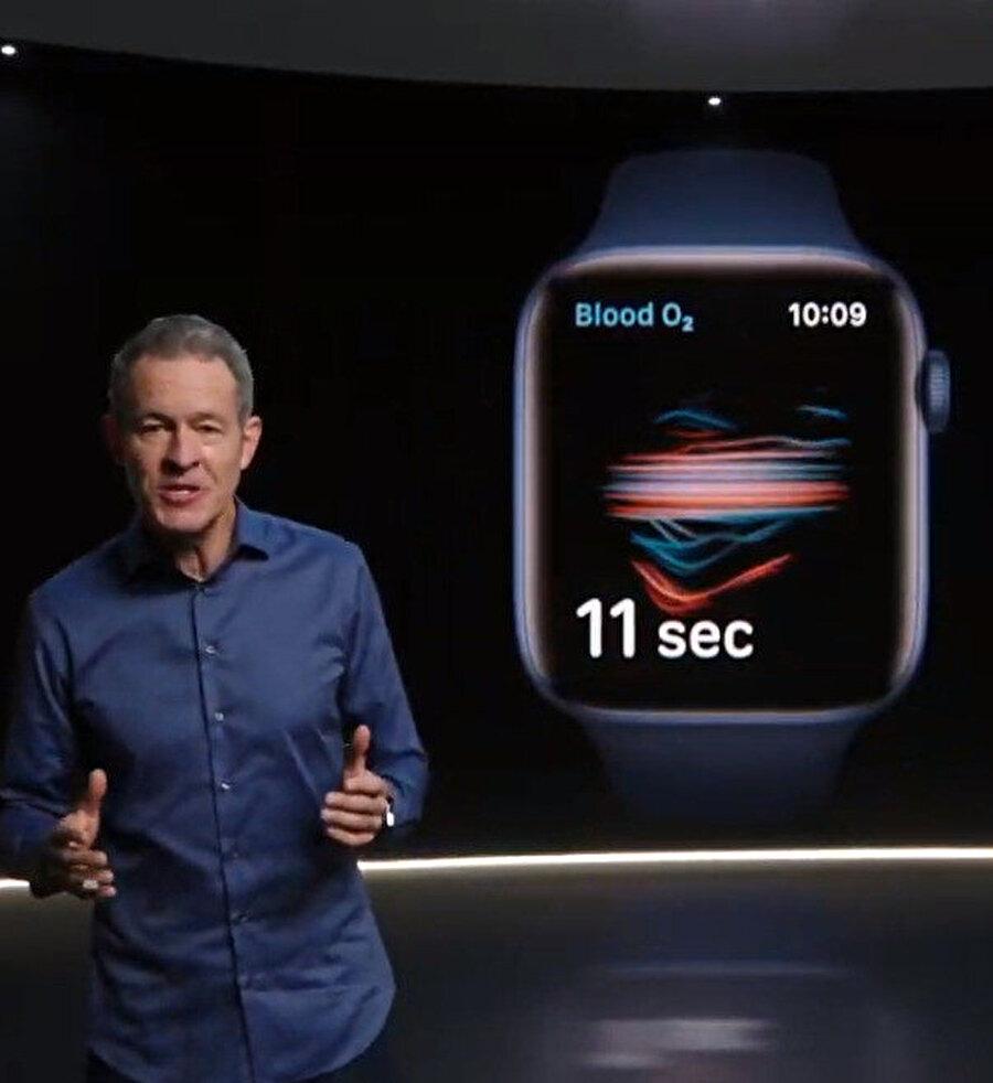 Altıncı nesil Apple Watch, kandaki oksijen seviyesini ölçebiliyor.
