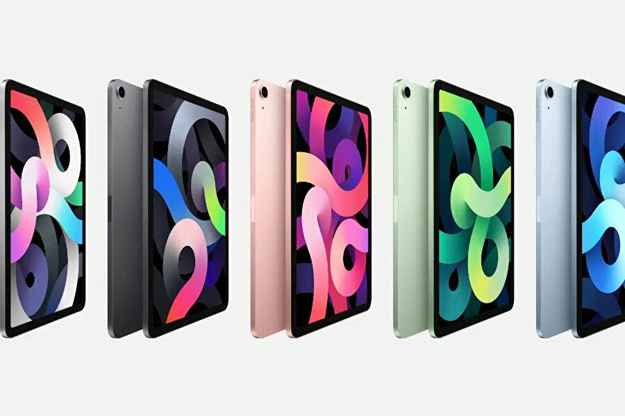 Yeni nesil iPad Air'in görünümü de diğer iPad'lerden farklı.
